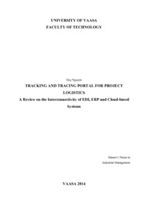 TRACKING AND TRACING PORTAL FOR PROJECT LOGISTICS  A Review